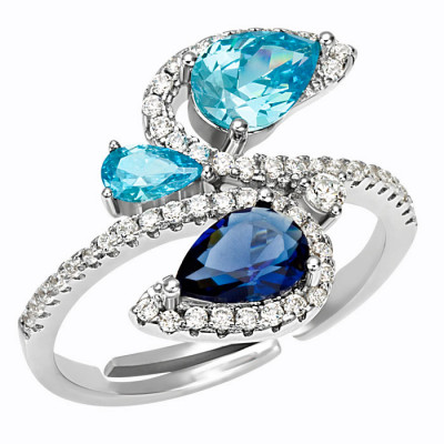 Anello Beverly Hills in Argento e Cubic Zirconia