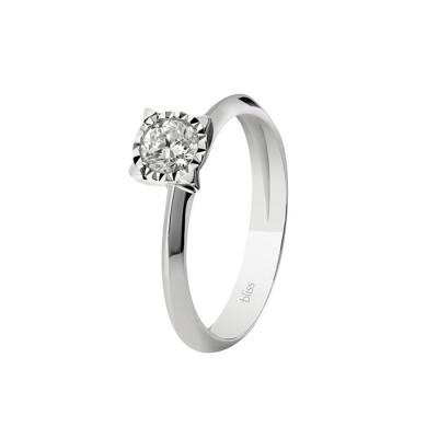 Anello Lumina in Oro Bianco e Diamanti