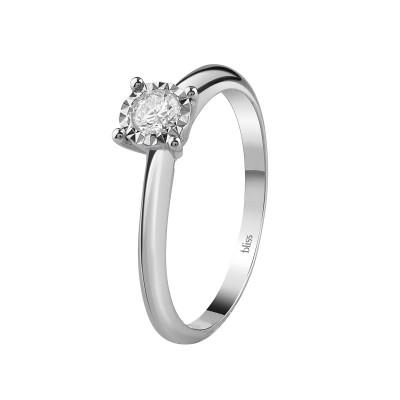 Anello Rugiada in Oro Bianco e Diamanti