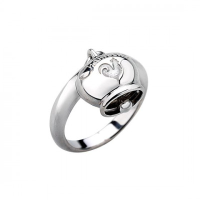 Anello Campanella Chantecler in argento