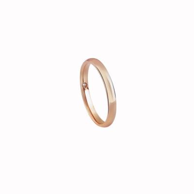 Fede nuziale in oro rosa misura 21
