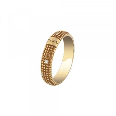 Anello Metropolitan in oro giallo con diamanti
