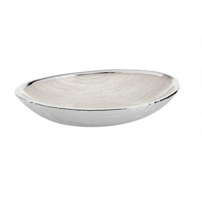 Ciotola Granito Vetro Bianco Perla