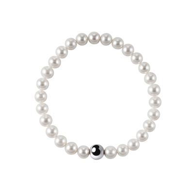 Bracciale Perle Fiume Bianche