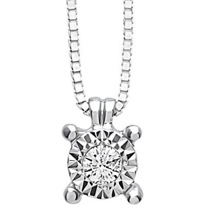 Collana Rugiada con diamanti 0,07 carati