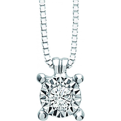 Collana Rugiada con diamanti 0,01 carati