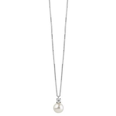 Collana Rugiada Perla e Diamante