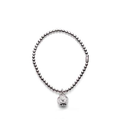 Bracciale elastico con ciondolo Campanella in argento