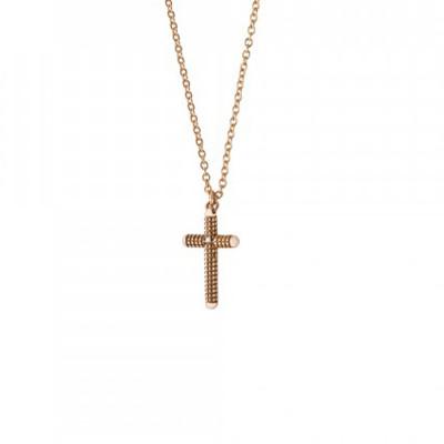 Collana Metropolitan in oro rosa con diamanti