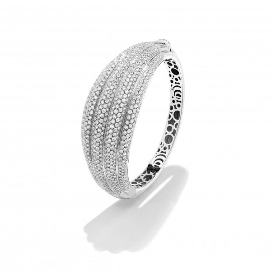 comprare popolare 8dc1d 1d366 Bracciale in oro bianco e pavé di diamanti