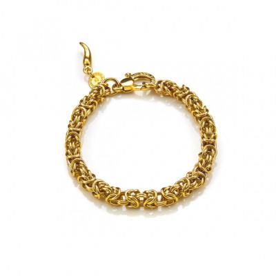 Bracciale Mini Maglia Bizantina oro