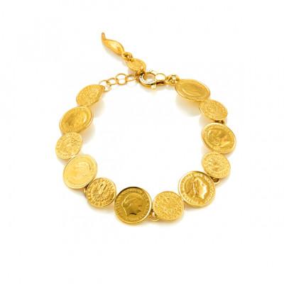 Bracciale Mini Monete oro