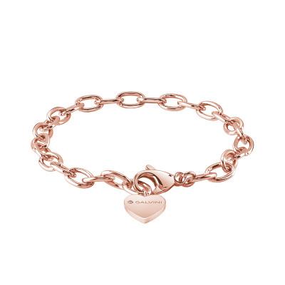 Bracciale in argento rosa con diamante