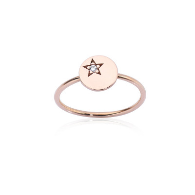 Anello White Star Paillette