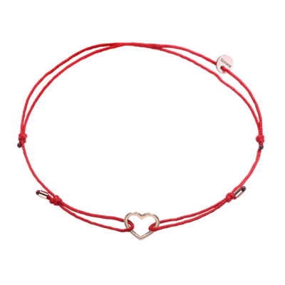 Bracciale Red Ribbon Cuore