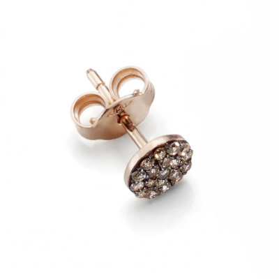 Orecchino Small Brown Diamonds