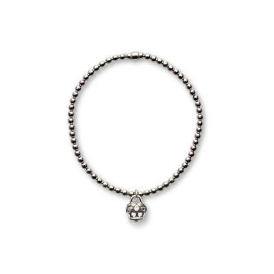 Bracciale elastico con ciondolo Campanella S. Valentino nero