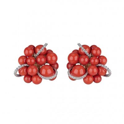 Orecchini Cherie Corallo rosso