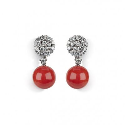 Orecchini pendenti Cherie Corallo rosso