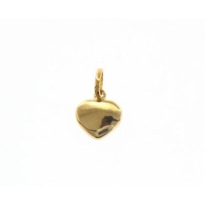 Ciondolo cuore in oro giallo