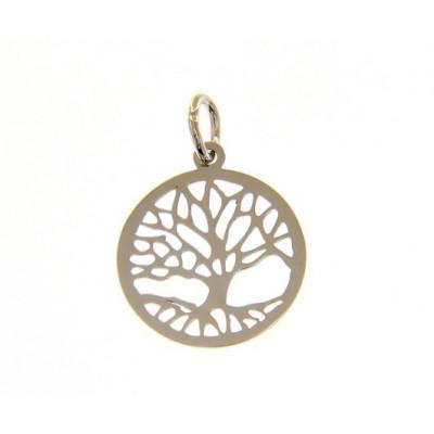 Ciondolo albero della vita in oro bianco