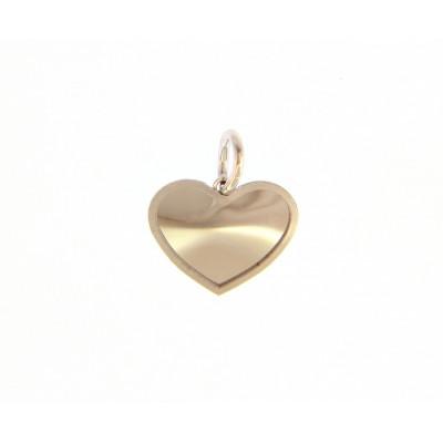 Ciondolo cuore in oro bianco