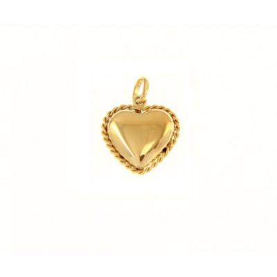 Ciondolo piccolo cuore in oro giallo