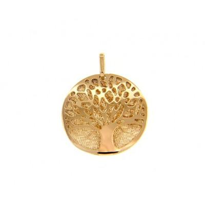 Ciondolo albero della vita in oro giallo