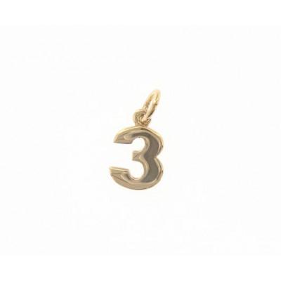 Ciondolo in oro numero 3