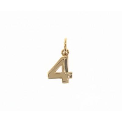 Ciondolo in oro numero 4