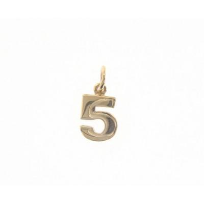 Ciondolo in oro numero 5