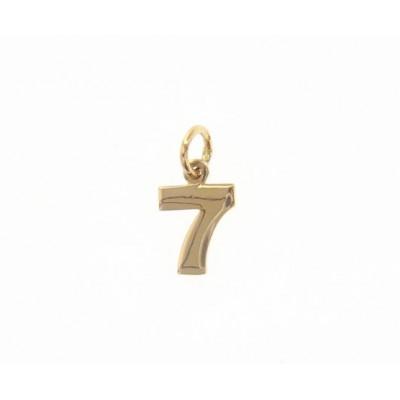 Ciondolo in oro numero 7