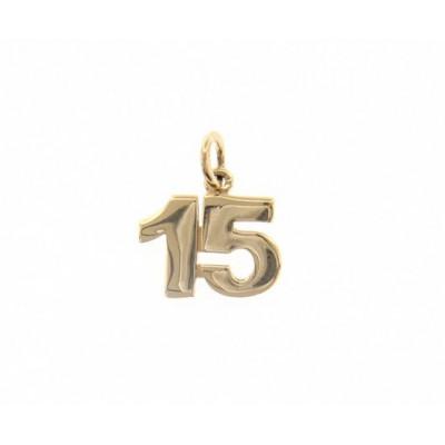 Ciondolo in oro numero 15