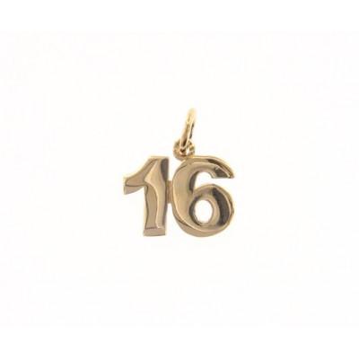 Ciondolo in oro numero 16