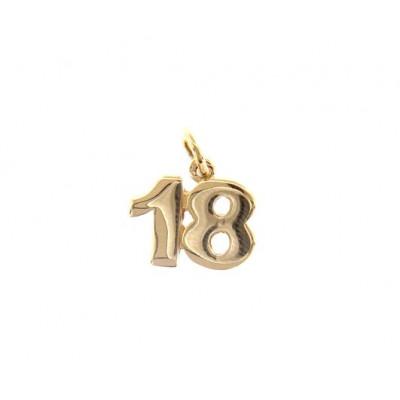 Ciondolo in oro numero 18