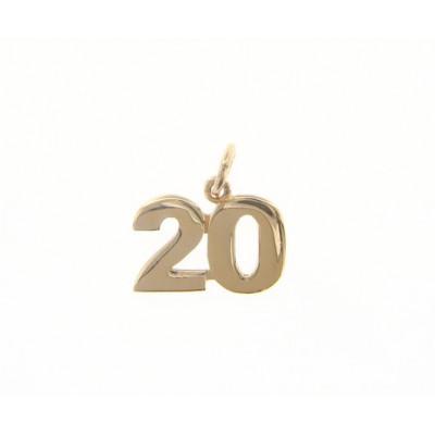 Ciondolo in oro numero 20
