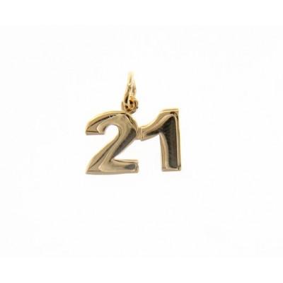 Ciondolo in oro numero 21