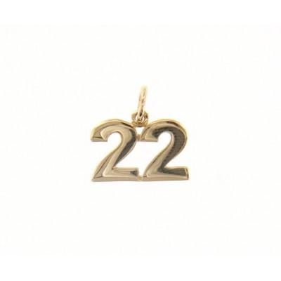 Ciondolo in oro numero 22
