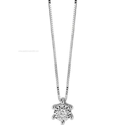 Collier Rugiada in Oro Bianco e Diamanti