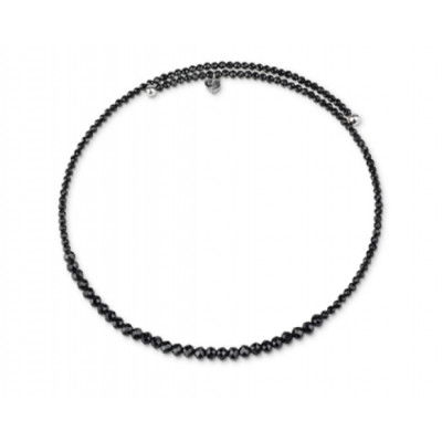 Chocker in spinello nero e argento