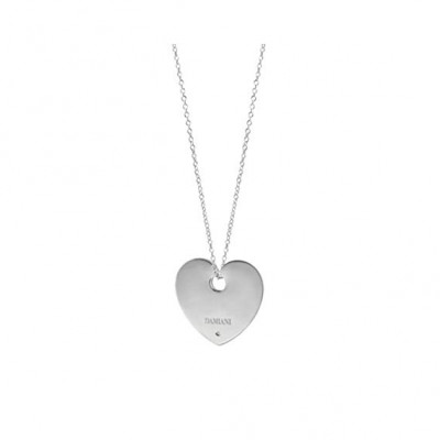 Collana in argento con un diamante