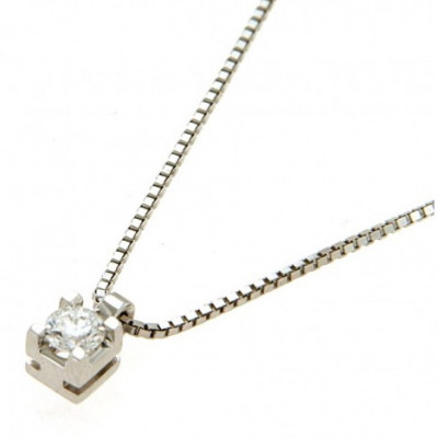Collana con Diamante 0,21 Ct