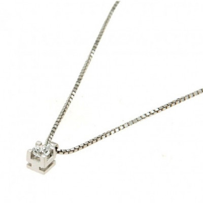 Collana con Diamante 0,15 Ct