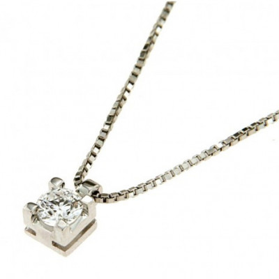 Collana con Diamante 0,32 Ct