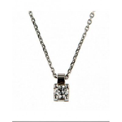 Collana con Diamante 0,10 Ct