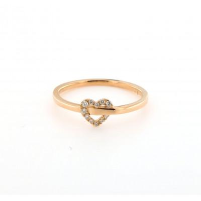 Anello Contrariè Cuore Diamanti