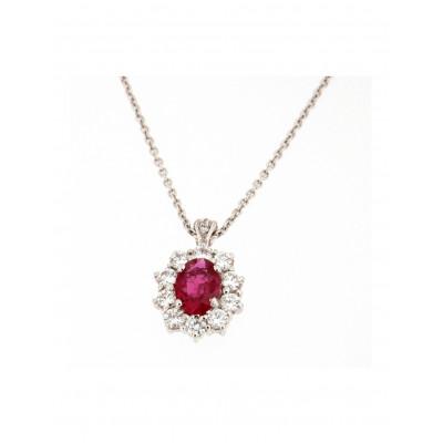 Collana Rubino Diamanti