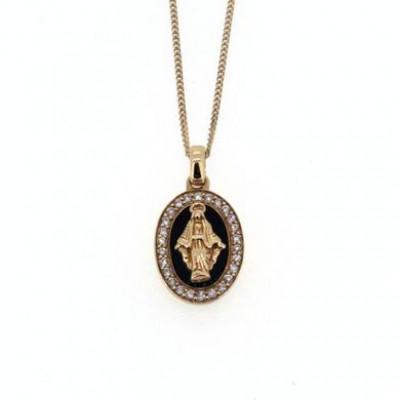 Collana Madonna Miracolosa oro rosa