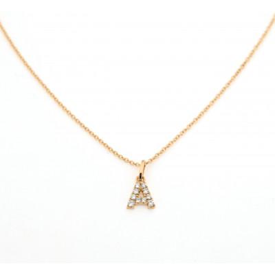 Collana Iniziali Diamanti