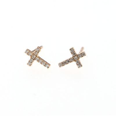 Orecchini Croci Diamanti